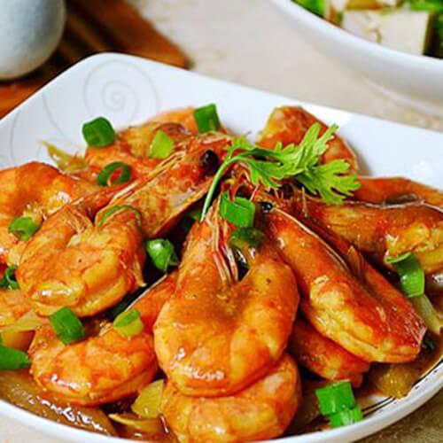 黄金咖喱对虾