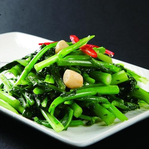 椒丝腐乳炒菜心