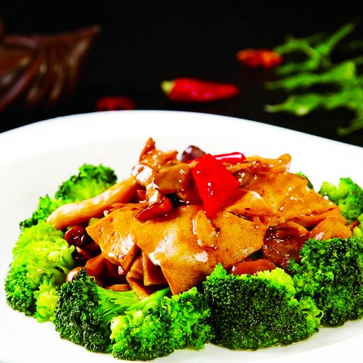 甜椒炒千页豆腐