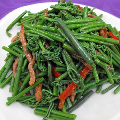 小番茄炒水蕨菜