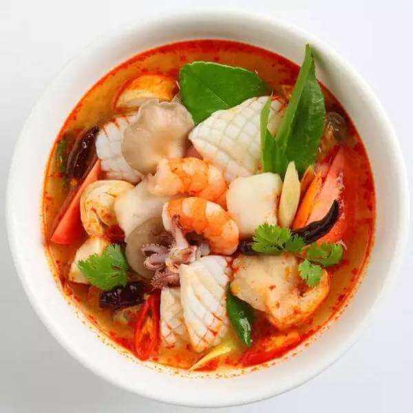 美味的虾蛤汤