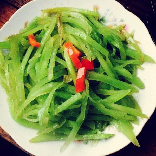 虾米炒莴苣