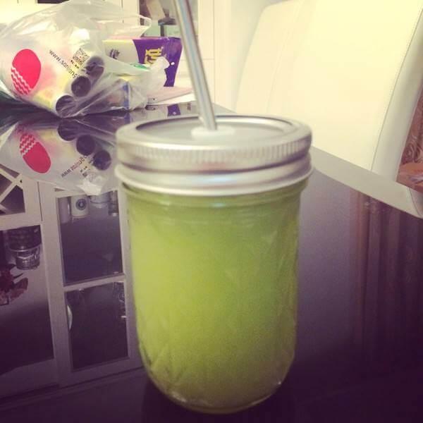 自制雪梨黄瓜汁