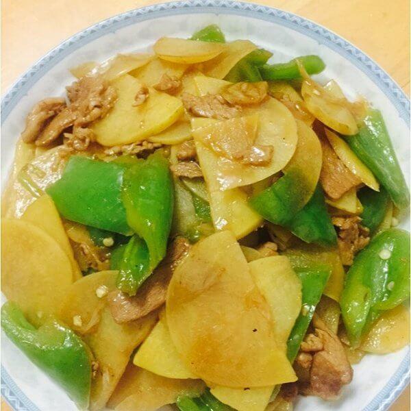 尖椒培根土豆片