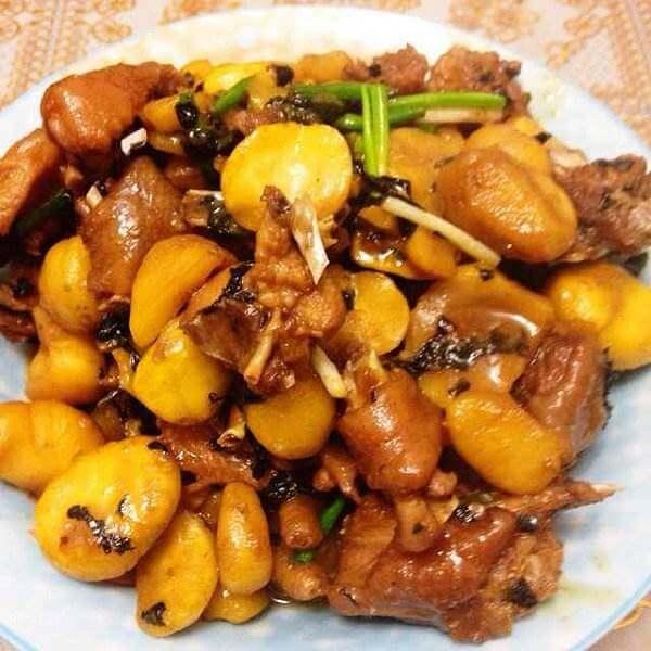 香菇板栗鸡