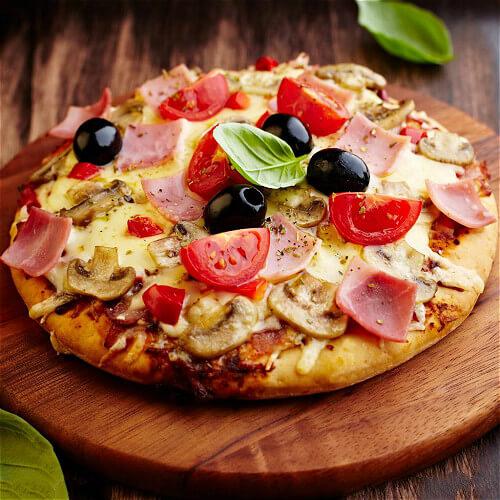 火腿培根小披萨