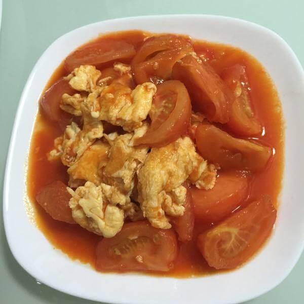 酸甜口柿子炒鸡蛋
