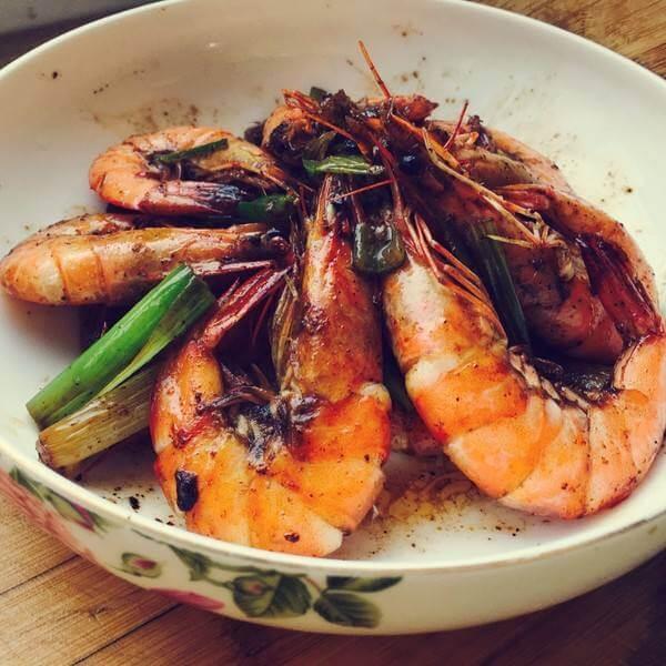 DIY盐烤大虾