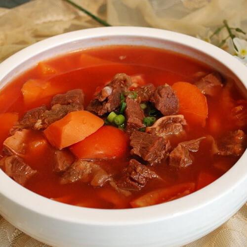 西红柿炖卤牛肉