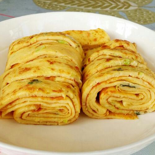 菜叶火腿蛋饼