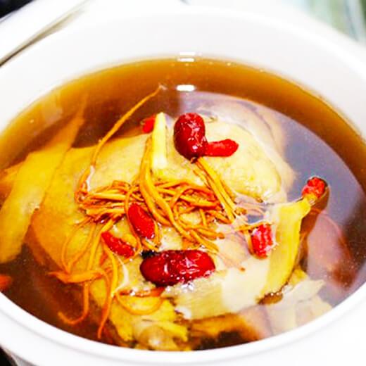 虫草菇榨菜豆腐汤