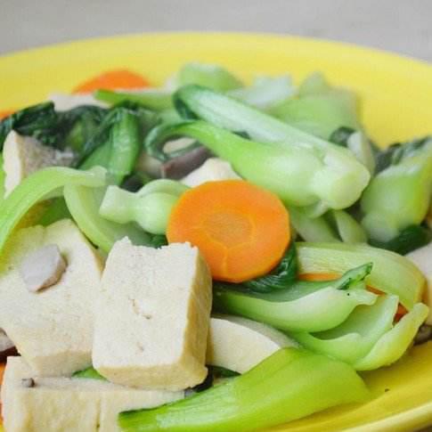 冻豆腐煮油菜蕻