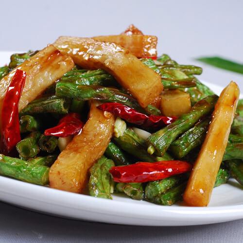 广式腊肠炒豆角