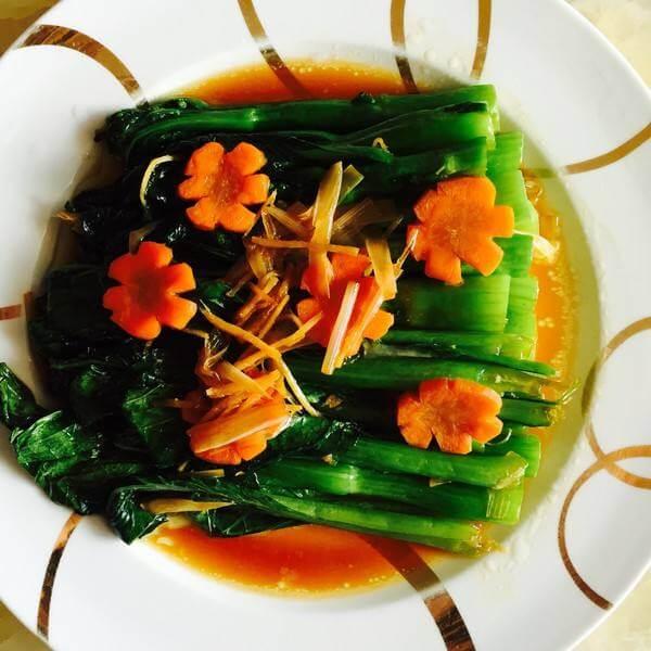 花生米拌菜心