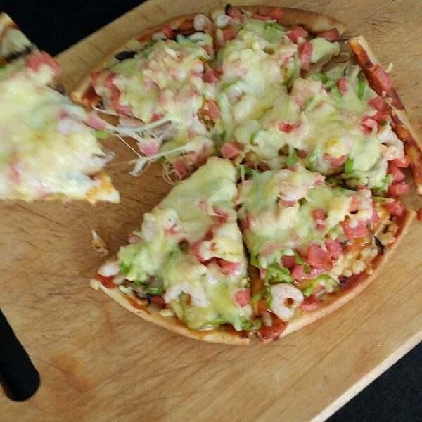 香菇火腿比萨