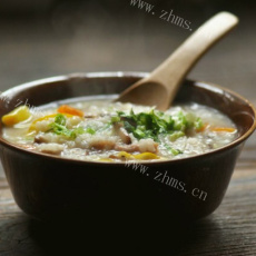 香菇胡萝卜白米粥
