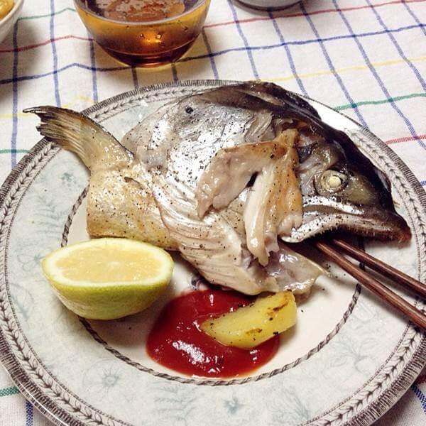 焗三文鱼头