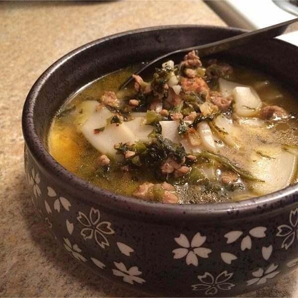 雪菜豆瓣汤