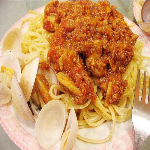 意大利海鲜肉酱面