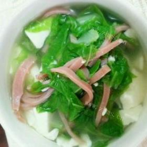 青菜火腿汤