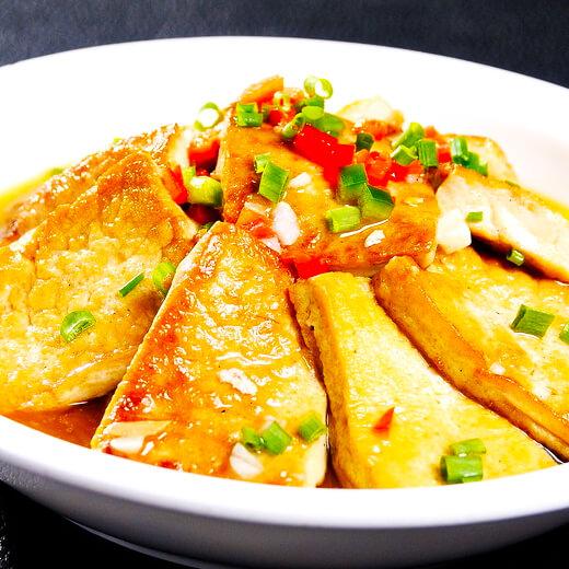 酱香煎豆腐