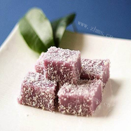 #营养美食#紫薯凉糕