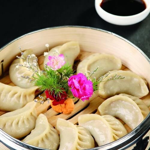 韭菜香菇猪肉蒸饺