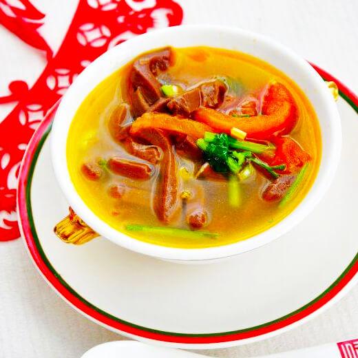 西红柿羊血汤