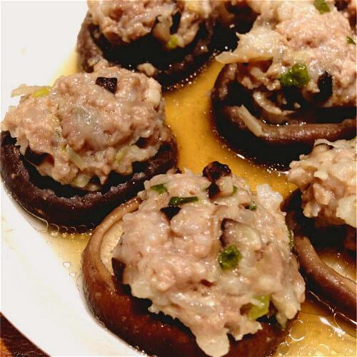 常吃不腻的香辣口蘑酿肉