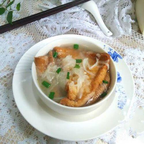 油豆腐萝卜丝汤