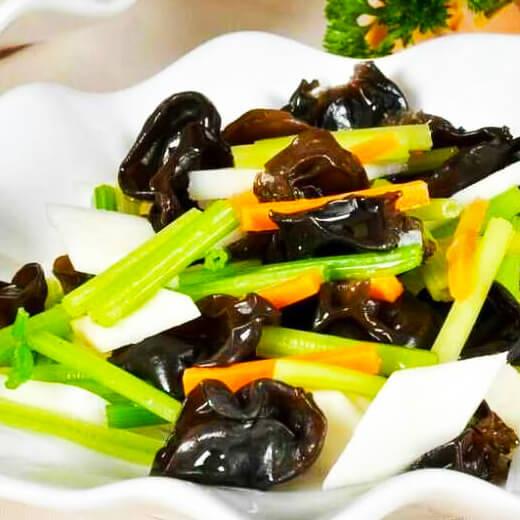 洋葱青菜炒木耳