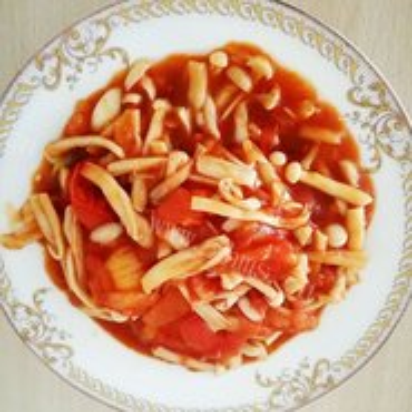 番茄海鲜菇炒蛋