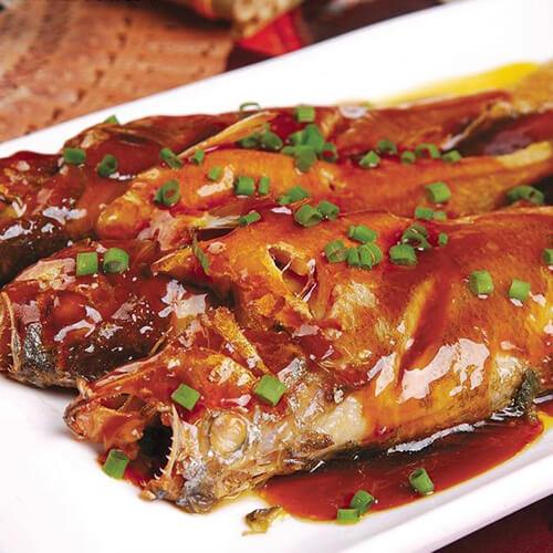 鲜美的日式照烧黄花鱼