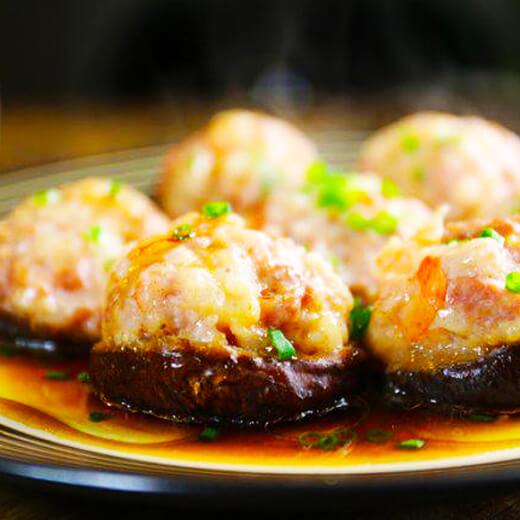 蚝汁酿冬菇