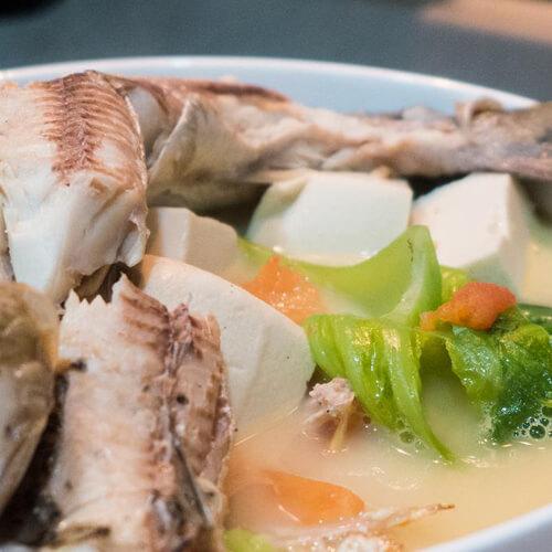 香菜豆腐鱼汤