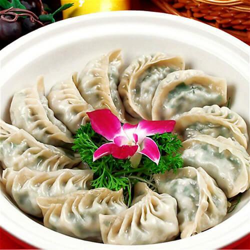 诱人的茶树菇饺子