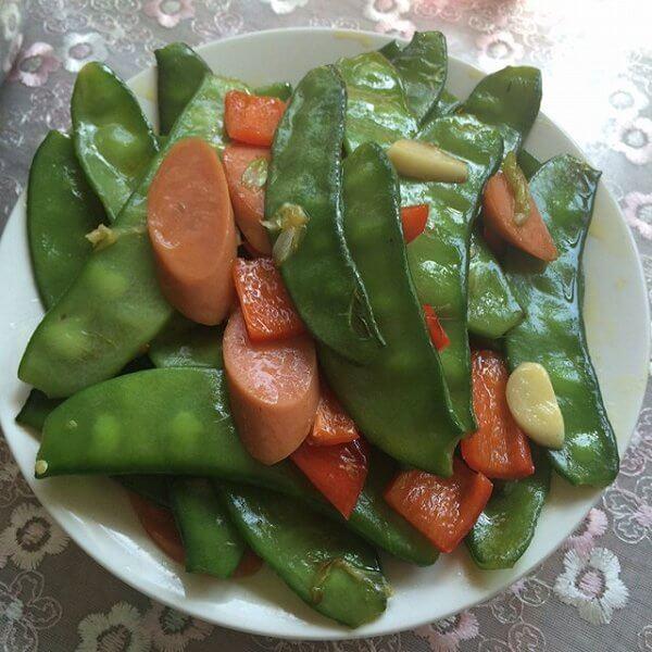 扁豆炒腊肠