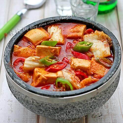 石锅白菜炖豆腐