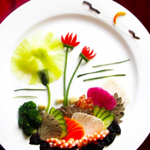 金鱼花式摆盘