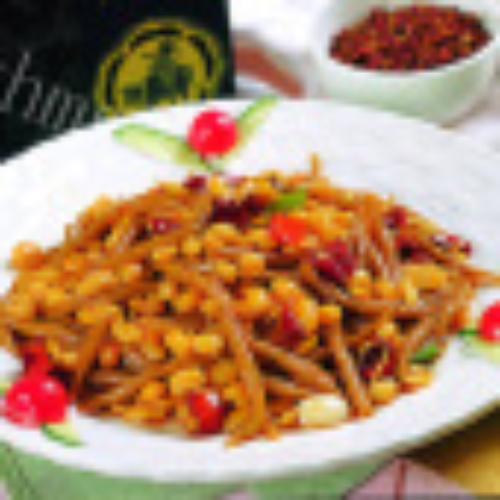 鸡肉咸菜炒黄豆