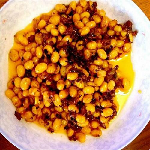 虾皮炒黄豆