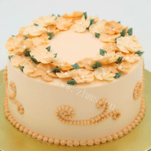 水果奶油裱花蛋糕