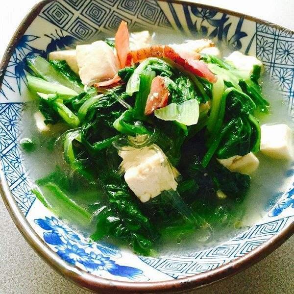小白菜豆腐鱼丸