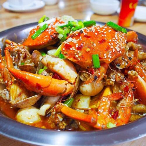 豆腐西葫芦海蟹煲