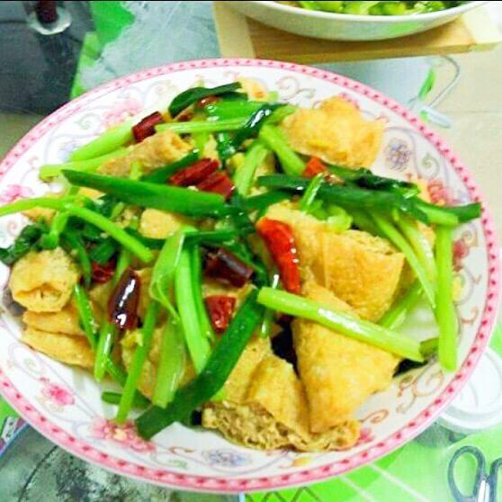 家常葱油豆腐