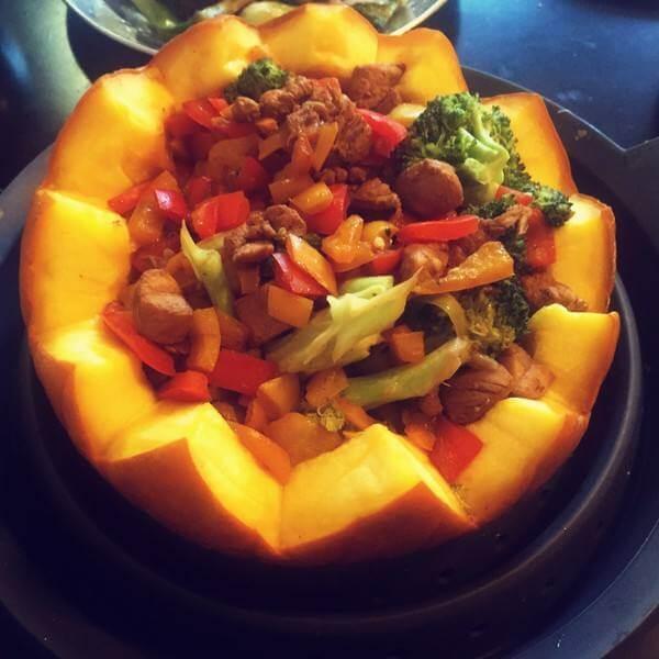 西红柿肉末盅