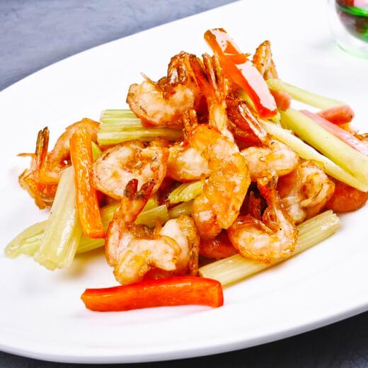 胡萝卜丝炒小酥虾