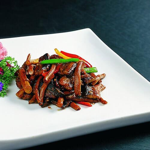 简单菜-蒜薹炒鳝段