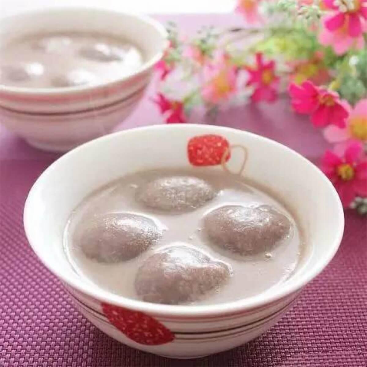 香浓豆浆汤圆