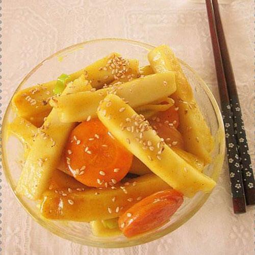 咖喱菜芯炒年糕
